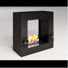 Биокамин Cube Glass black